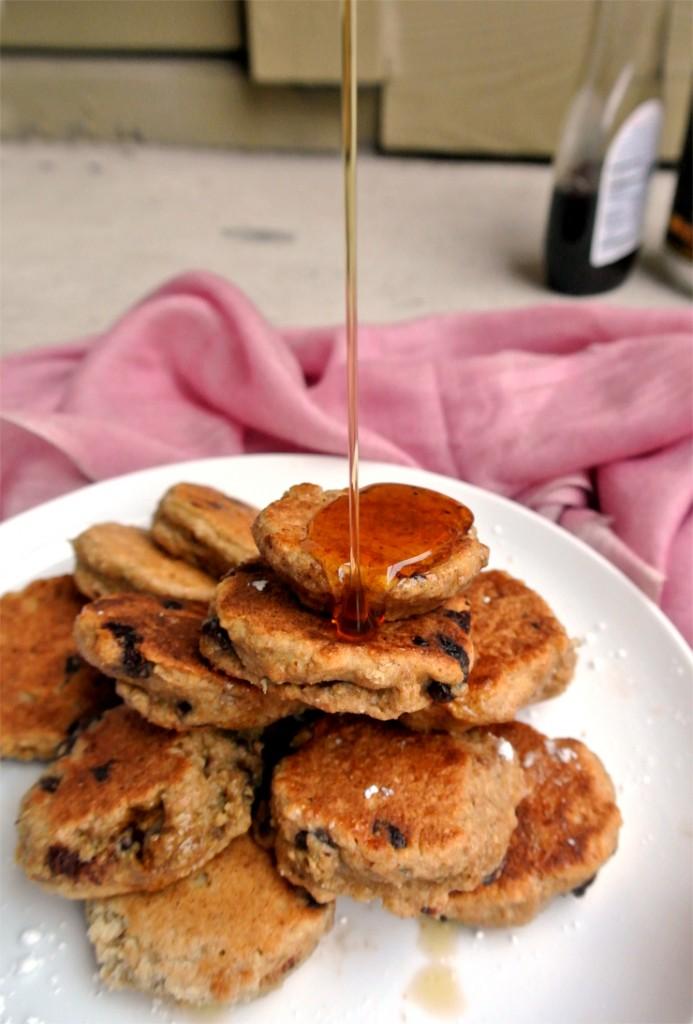 Recipe: Whole Wheat Chocolate Chip Silver Dollar Pancakes ...